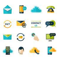 Kontaktieren Sie uns Icons Set