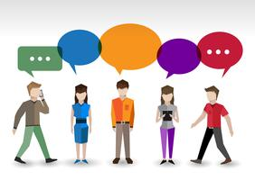 Chat Menschen Konzept vektor