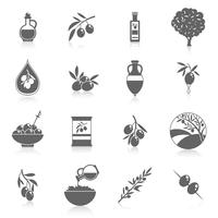 Oliven-Icons schwarz