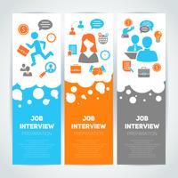 Jobbintervju flat banner set