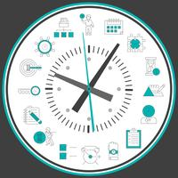 Zeitmanagementuhr vektor