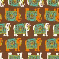Indien elefant sömlösa mönster