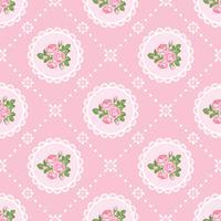 Shabby chic rosa sömlös mönster bakgrund