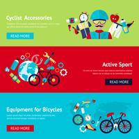 Cykel platt banderollsats vektor