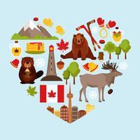 Kanada dekorativer Satz