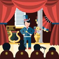 Theater spielen Konzept