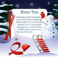 Winterzeit-Hintergrund vektor