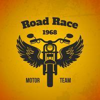 Moto Flügel Poster