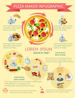 pizza maker infographics vektor