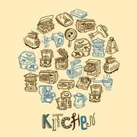 Küchenausstattung Skizze