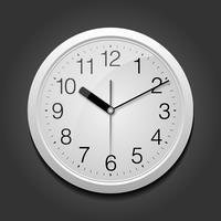 Klassische runde Uhr.
