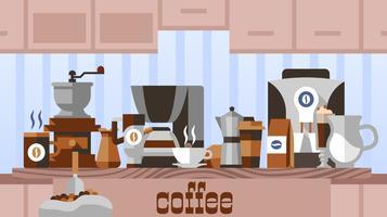 Kaffee nach Hause Konzept vektor