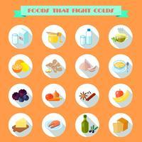 Mat för kalla ikoner vektor