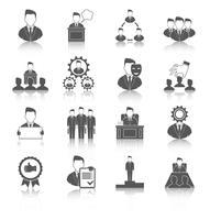Executive ikoner svart