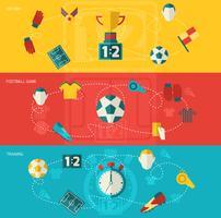 Fotboll ikoner platt