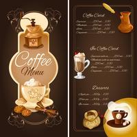 Kaffee-Café-Menü vektor