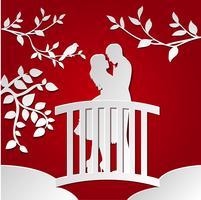 Paar auf der Brücke vektor