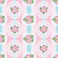 Shabby chic rosa sömlöst mönster på rosa bakgrund