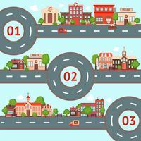Stadt-Infografiken gesetzt