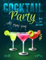 Cocktailparty-Plakat vektor