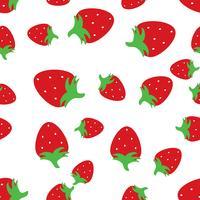 Sömlös mönster bakgrund med röda jordgubbar. vektor