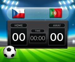 Tjeckien VS Portugal resultattavlan