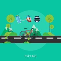 Cykling Konceptuell illustration Design vektor
