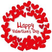 Valentinsgrußkartenschablone mit Herzrahmen vektor