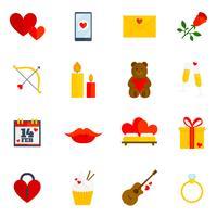 Romantische Ikone flach