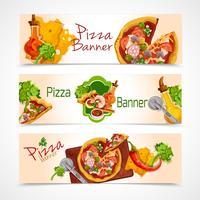 Pizza banners uppsättning