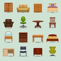 Möbler Ikoner Set