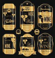 Lyxigt gyllene vinmärke vektor