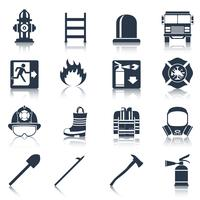 Feuerwehrmann Icons Black