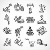 Konstruktion ikoner uppsättning