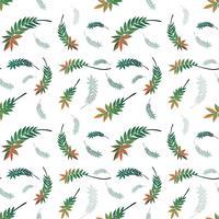 Vackert naturblad sömlöst mönster vektor