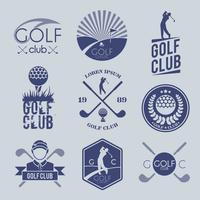 Golfklubbmärke vektor