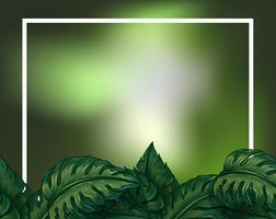 Ein grüner Blätterrahmen vektor
