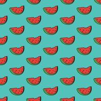 Nahtloser Musterhintergrund mit Wassermelonenscheibe