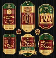 Retro Hintergrund des Pizzahintergrundes