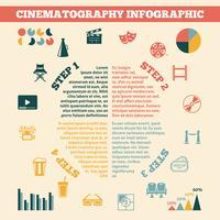 Cinema Infographics Print Poster vektor