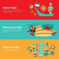 Italien-Fahnensatz vektor
