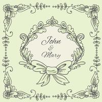 Bröllops krans skiss
