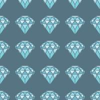 Nahtloses Muster von geometrischen blauen Diamanten auf grauem Hintergrund. Trendy Hipster Kristalle Design. vektor