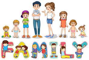 Familie vektor