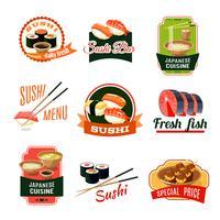 Asiatische Lebensmitteletiketten vektor