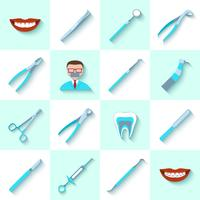 Zahnmedizinische Instrumente Icons Set