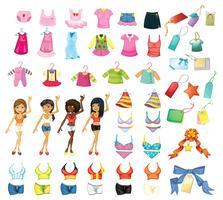 Mädchen Kleid gesetzt