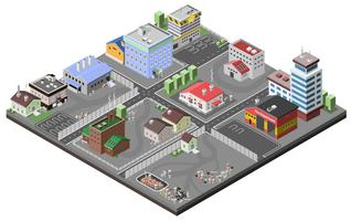 industriområde koncept vektor