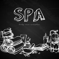 Spa Chalkboard Bakgrund