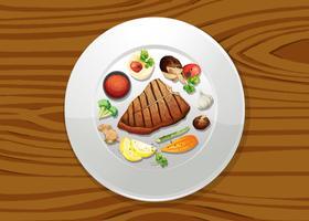 Pfahl- und Salat-Draufsicht